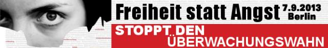 Freiheit statt Angst Demo am 7.9.2013 in Berlin